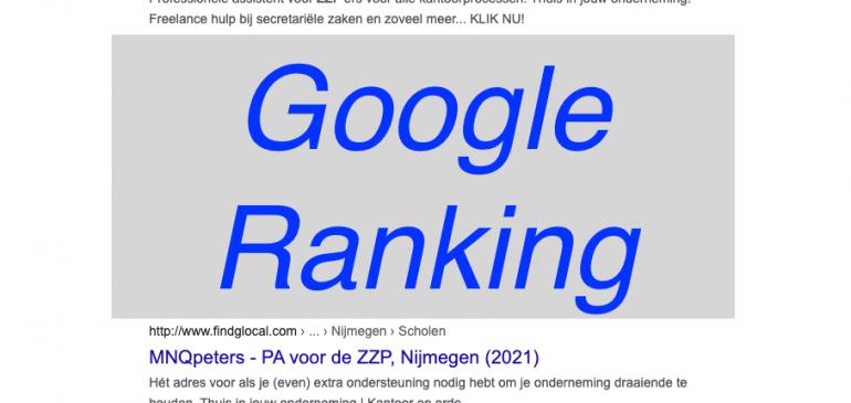 5 zaken die geen invloed hebben op Google-ranking