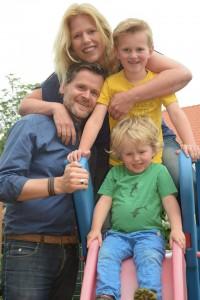 Buren-gezinsfoto