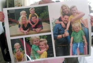 Buren-gezinsfotocollagekopie