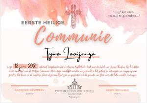 Certificaat Eerste Heilige Communie